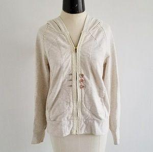 ANTHRO {SATURDAY/SUNDAY} oatmeal zip up hoodie